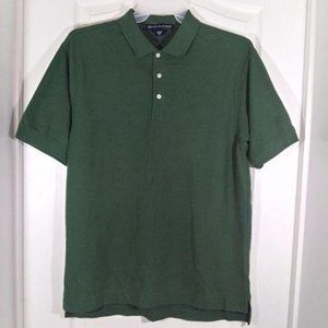 Devon & Jones Short Sleeve Button Front Polo Shirt